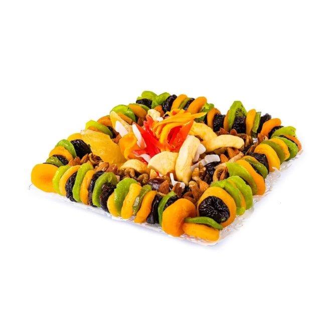 מגש מרובע של פירות יבשים קטן