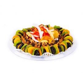מגש עגול של פירות יבשים Medium | סלסלה