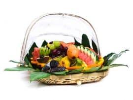 סלסלת פירות ליולדת מפנקת עם מבחר פירות טריים